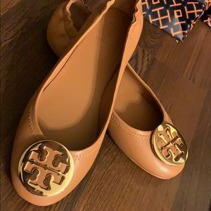 Authentic Tory Burch Minnie Travel Baller Flat